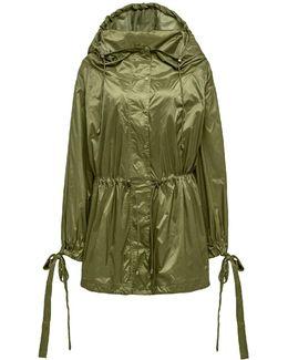 Tie-cuff Drawstring Parachute Jacket