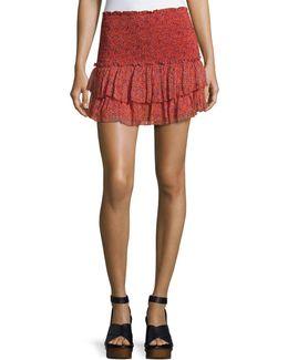 Julia Smocked Mini Skirt