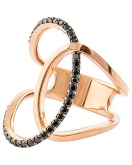 Reckless Vol. 2 14k Rose Gold Illuminating Ring With Black Diamonds