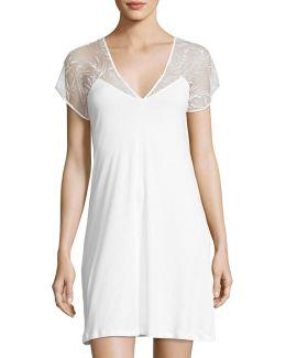 Ana Cotton Lace-yoke Nightgown