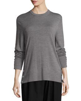 Merino Wool Side-snap Sweater