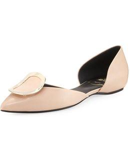 Sexy Choc Leather Ballerina Flat