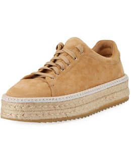 Kent Suede Lace-up Espadrille