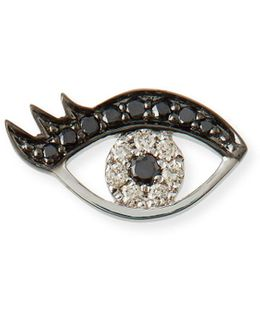 Small Eyelash Evil Eye Stud Earrings