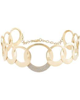 Circle Bond Choker Necklace With Diamonds