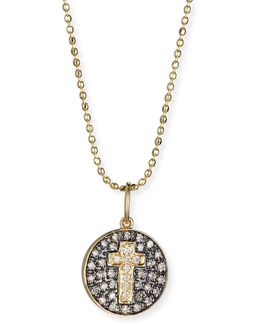 Cross Medallion Necklace With Diamonds