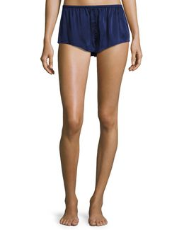 Silk-satin Pajama Shorts