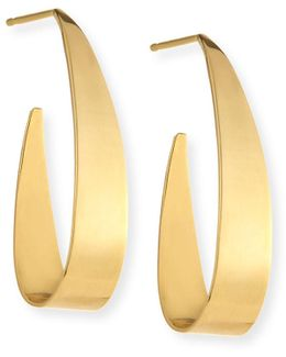 Small Gloss 14k Gold Hoop Earrings