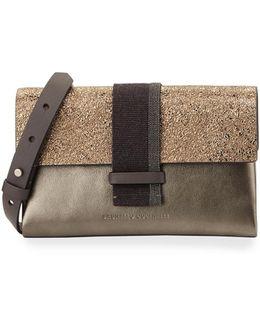Metallic Monili-beaded Crossbody Bag