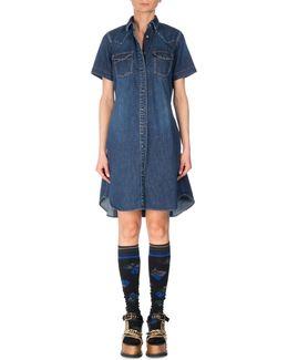 Short-sleeve Denim Shirtdress
