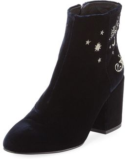 Elixir Embroidered Velvet Boot