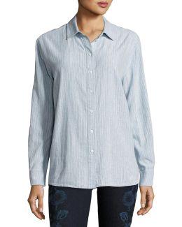 Pacific Long-sleeve Linen-cotton Shirt
