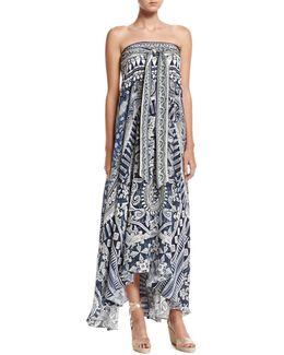 Long Sarong Printed Coverup Dress