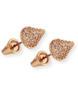 Pavé Crystal Cone Stud Earrings
