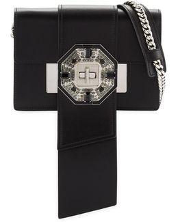 Jewels Ribbon Flap Shoulder Bag