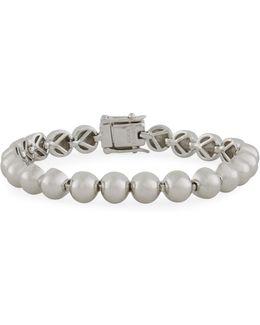 Sterling Silver Dome Bead Bracelet