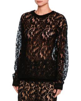 Ines Floral Lace Sweatshirt