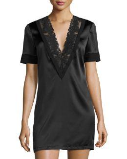 Azalea Lace-trim Lounge Shirt
