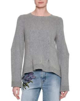 Knit High-low Cashmere Sweater