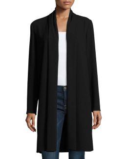 Coley Long Silk Topper Coat