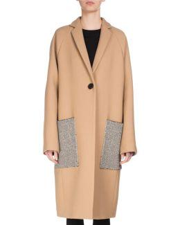 Long Patch-pocket Wool Coat