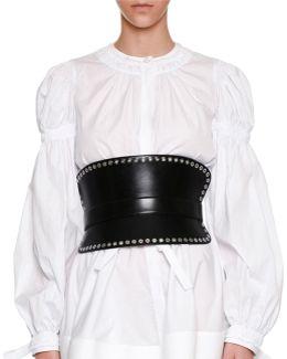 Grommet-studded Corset Belt