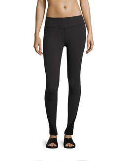 Down The Line Shirred-sides Performance Legging