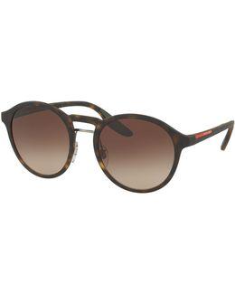 Linea Rossa Men's Round Double-bridge Sunglasses