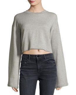 Tie-back Long-sleeve Sweatshirt