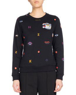 Allover Multi-icons Classic Sweater