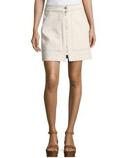 Penelope Flecked Denim Skirt