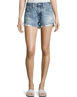 Sadie Mid-rise Denim Shorts