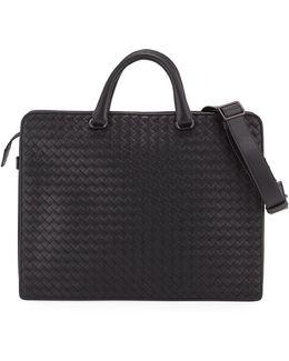 Intrecciato Calf Leather Briefcase
