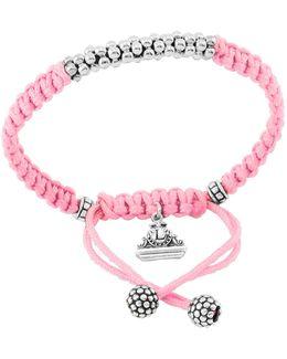 Kinder Sterling-silver Macrame Bracelet
