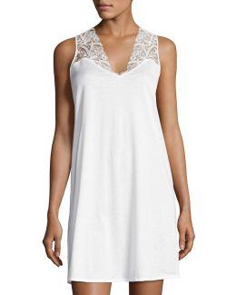 Daphne Lace-trim Tank Gown