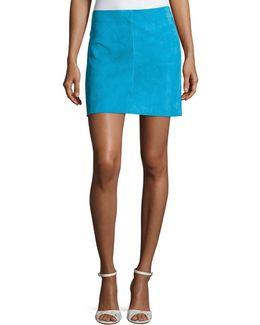 Jenny Lamb Suede Mini Skirt