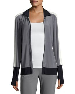 Side-stripe Turtle Athletic Jacket