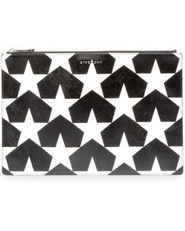 Iconic Prints Star-print Large Pouch Bag