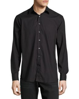 Dot-print Cotton Shirt