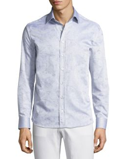 Constellation-print Cotton Shirt