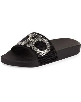 Groove Gancini Flat Slide Sandal