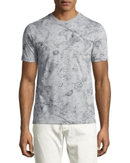 Constellation-print T-shirt