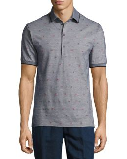 Mixed-dot Mélange Polo Shirt