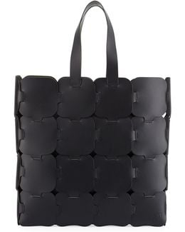 Cabas Large Leather Tote Bag