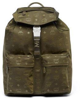 Dieter Monogramed Canvas Backpack
