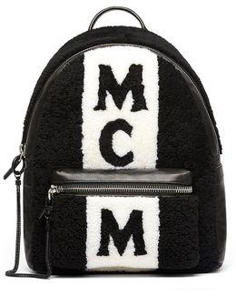 Stark Shearling Striped Backpack