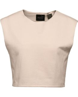 Sleeveless Cropped Crewneck Top