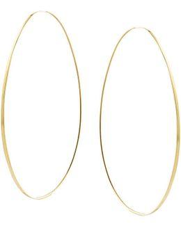 Large Tear Hoop Earrings