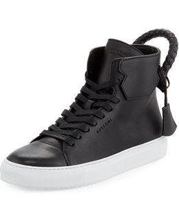 Men's 125mm Leather High-top Sneaker