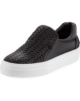 40mm Men's Woven Leather Slip-on Sneaker